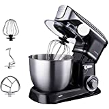 Stand Mixer Frullino per le uova Fornello elettrico Macchina per la casa multifunzione per uso domestico con frullino da 5 litri Frusta Gancio per impastare Protezione antispruzzo