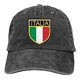 Optional Italia Gorra de béisbol para hombres y mujeres ajustable Denim Vacation Jeans Sombreros Sombrero de papá