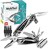 DRFRIEDELS Multitool – 22 in 1 Tools and Universal Socket Set – Multitools Including Screwdriver Set for DIY and Repair Jobs – Compact Pocket Multi Tool with Pliers, Bottle Opener, Chisel and More