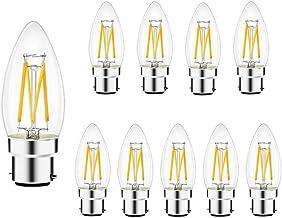 Brightfour B22 Ledlampen, warmwit, 4 W, komt overeen met 40 W, gemiddelde levensduur 30.000 uur, bajonetsokkel, C35, niet ...