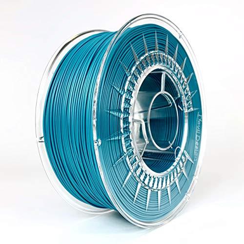 Devil Design | Filament | PLA Ocean blue - Ozean blau | 1.75 | 1kG | für Anfänger und Fortgeschrittene | Top Haftung | wenig Stringing | leicht zu drucken | verzugsarm und geruchslos