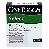 OneTouch Select Test Strips 25 Count (Multicolor) glucometers Mar, 2021