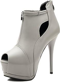 fereshte Women's Peep-Toe Stiletto High Heels Sandals Platform Pumps Shoes