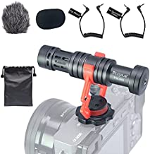 Mcoplus VM-D02 Universal Video Microphone with Shock Mount, Deadcat Windscreen, Compact On Camera Cardioid Directional Shotgun Video Microphone for Android Smartphones, Cameras and Camcorders…