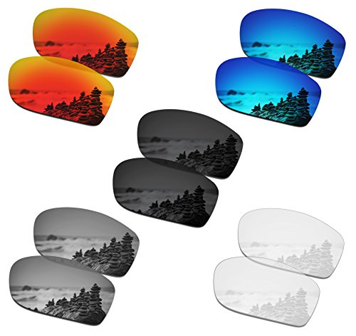 SmartVLT Set of 5 Men's Replacement Lenses for Oakley Fives Squared Sunglass Combo Pack S01