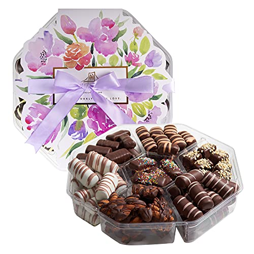 Dark Chocolate Valentine's Gift Box - Handcrafted Chocolate Truffles, Gourmet Assorted Valentine Chocolates, Delicious Valentine's Day Tradition, Kosher, Dairy Free