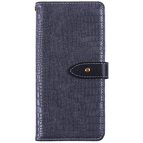 YLYT Flip Hülle Etui Gray Leder Tasche Schutz Hülle Für Leagoo Z6 4.97 inch Handy Horizontale Standfunktion Magnetverschluss Strapazierfähiger Cover