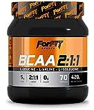 ForFit Sports, integratore con aminoacidi a catena ramificata BCAA 2:1:1 in polvere, gusto arancia, 420 g, 70 porzioni