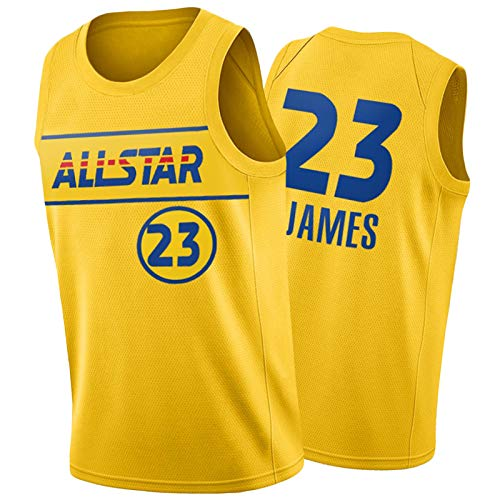 HTKJG Camiseta sin mangas Lakers 23#James 3#Davis para hombre, temporada 2020-2021 All-Star Edition sin mangas, con logotipo de escote delantero (S-XXL) James-XL