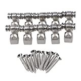 Yibuy Roller Guitar String Tree Guides Retainer Chrome Pack of 10