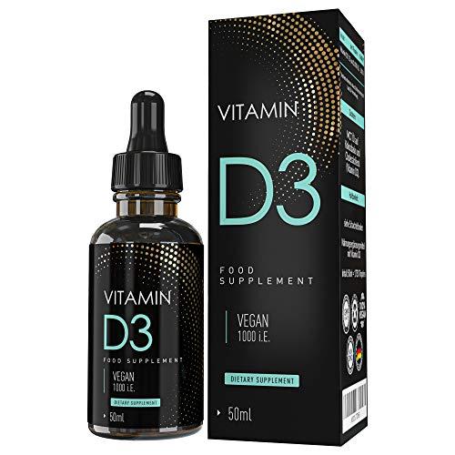 MVN® Vitamin D3 Tropfen Hochdosiert | 1000 I.E - 25 µg | Pflanzlich und Vegan | Cholecalciferol | Hohe Bioverfügbarkeit