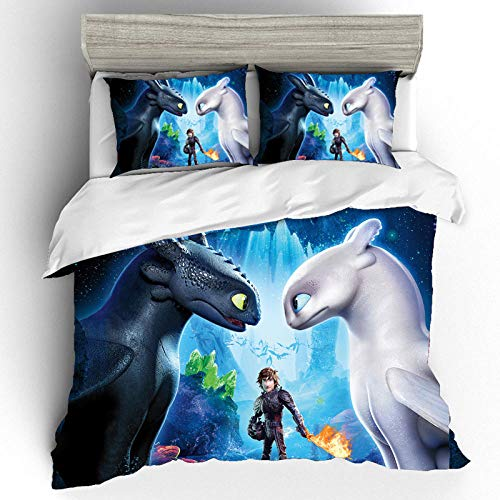 Bcooseso Home Textile 3d Cartoon anime character Stitch Bedding Set Kids Duvet Cover Sets with Pillowcase Bed Linens Bedclothes Twin Full Queen King Size King size 220 x 230 cm