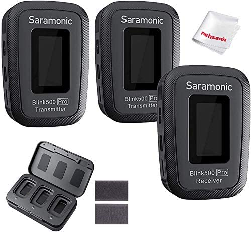 Saramonic Blink 500 Pro B2 Microphone with Portable Charging Case 2 4GHz Wireless Lavalier Mic product image