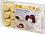 Birkmann 251946 Pralinen- und Schokoladenförmchen, Silikon, 15-fach