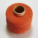 ETXP Suave y duradero, 100 % hilo de lino 120 m/rollo de cuerda para coser bordado, accesorio de ganchillo DIY para manualidades, punto de cruz (color naranja)