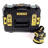 DeWALT DCW210NT-XJ DCW210NT-XJ-Lijadora Rotorbital sin escobillas XR 18V Ø125mm Electrónica sin cargador/batería con maletín TSTAK II, 18 V, Negro/Amarillo