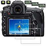 Screen Cover for Nikon D850 D500,debous Clear Optical Tempered Glass 9H Hard Shield for Nikon D850 D500 DSLR Camera