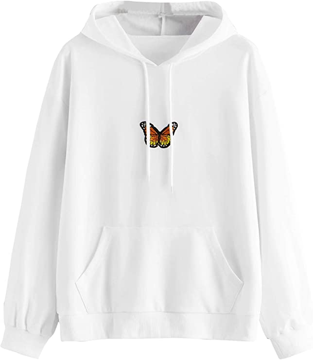 cotton candy sweater butterfly cute sweats