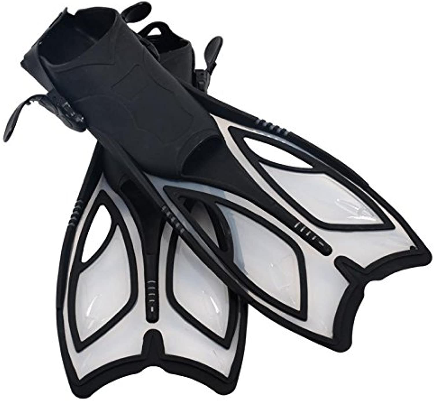 HOTIAN Adjustable Speed Diving Fins for Swimming Snorkeling Watersports