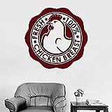 Pegatinas de pared decoración de la pared pegatinas de bricolaje logotipo de pollo comestibles de papel escaparate de pechuga de pollo restaurante 42X43cm