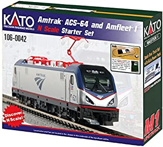 Kato USA Model Train Products N Amtrak ACS-64 & Amfleet I Starter Set
