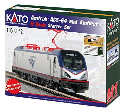 Kato USA Model Train Products N Amtrak ACS-64 & Amfleet I Starter Set