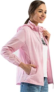 Women's Softshell Jacket, Breathable Sunscreen Coat Lightweight Elastic Windbreaker for Running Cycling Biking and Travelling,Pink,4XL