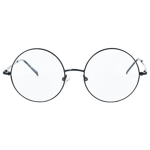1189a5366815b Agstum Round Retro Metal Prescription Ready Glasses Frame Clear Lens