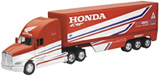 Orange Cycle Parts Die-Cast Replica Toy 1:32 Scale Model Red Team Honda HRC Transporter Truck by NewRay 10893