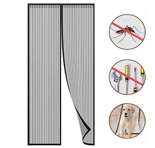 Magnetische Fly Insect Screen Door, Magnetic Curtain Adhesive Installatie Zonder Boren, Klamboe Magneetsluiting, Full Frame, 100X210cm,90×210cm