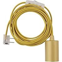 Globe Electric Emile 1-Light Plug-In Exposed Pendant (Yellow)