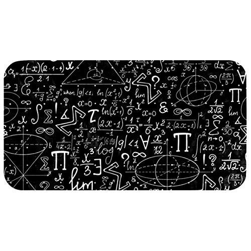 CHINFY Alfombra de baño de Math Algebra antideslizante para bañera, alfombra de ducha de PVC con ventosas agujero de drenaje, 37,3 x 68,3 cm