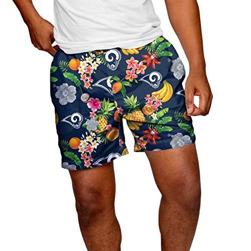 FOCO Herren Swim Suit Trunks Los Angeles Rams NFL Fruit Badehose L, Teamfarbe, Large