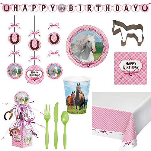 Two Trinkets Heart My Horse Theme Disposable Deluxe Bundle for 16 Guests