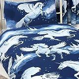Price Right Home Stardust Licorne Unique Housse de Couette et taie d'oreiller-Bleu Marine