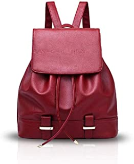 XHHWZB Children's Backpack Leather Backpack Lady Bag Fashion Wild Backpack Retro Casual Handbag Multi-Function Handkerchief Tide