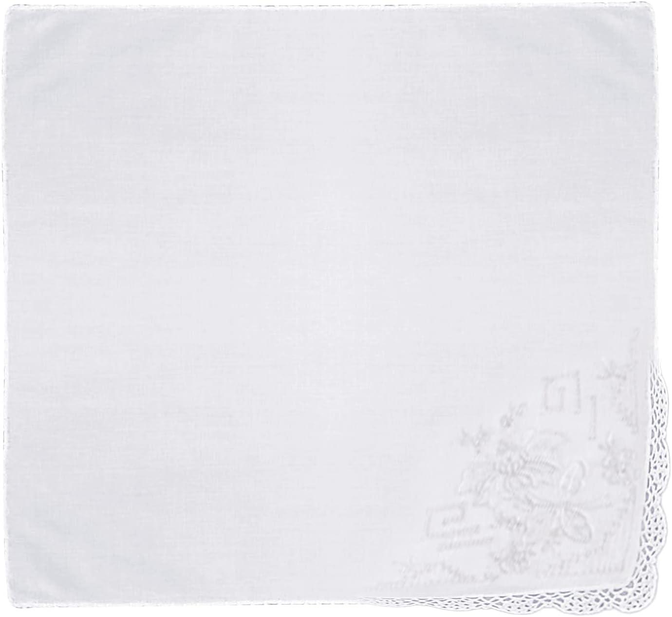 Handmade Embroidered Handkerchief - 12
