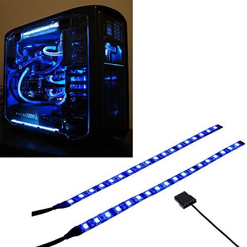 Ubanner PC LED flessibile striscia di illuminazione blu del computer con kit di luci magnetiche per case del computer (30cm, 18leds, serie S)
