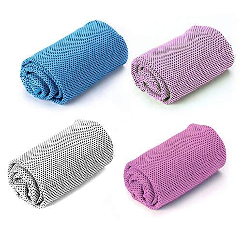 Toallas de enfriamiento para deportes, toallas de microfibra multiusos de secado rápido para cuello, toallas de hielo para entrenamiento de sudor, fitness, gimnasio, yoga, viajes y más actividades