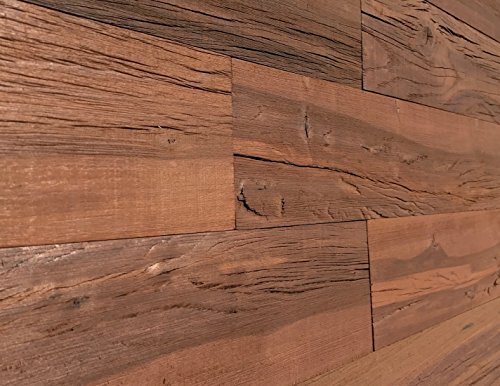 Smart Paneling SPHW521 Holey Wood Reclaimed 3D Barn Wall Plank, Brown