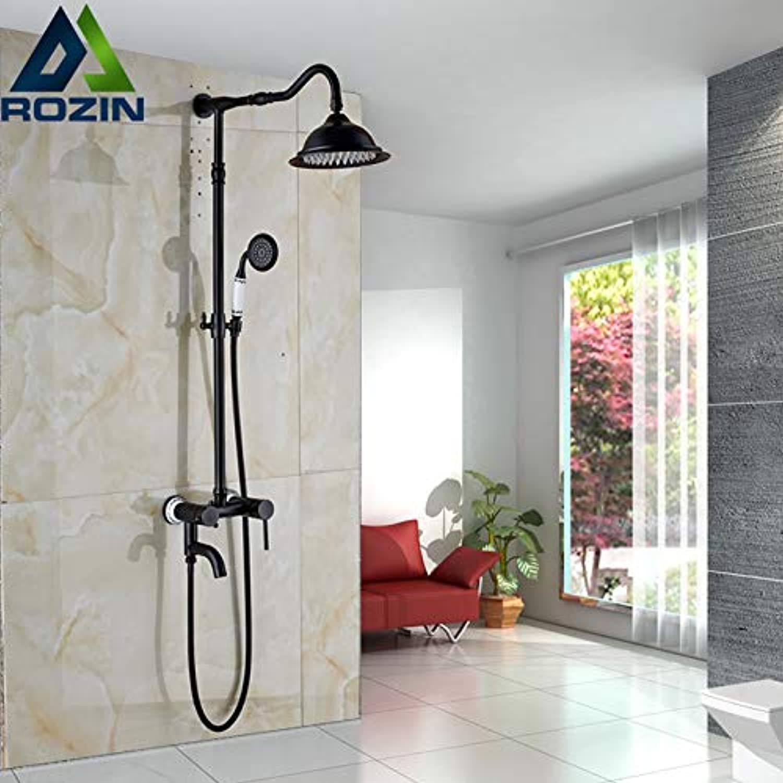 Gute Qualitt Einhebel Bad Dusche Wasserhahn Set in der Wand 8 Regendusche Mischbatterie mit drehen Wannenfüller