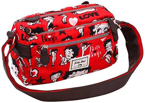 Karactermania Betty Boop Rouge Bolsos Bandolera, 24 cm, Rojo