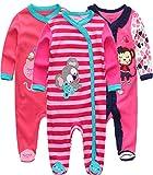 Kiddiezoom Pelele para bebé y niña, pack de 3 unidades Design5...