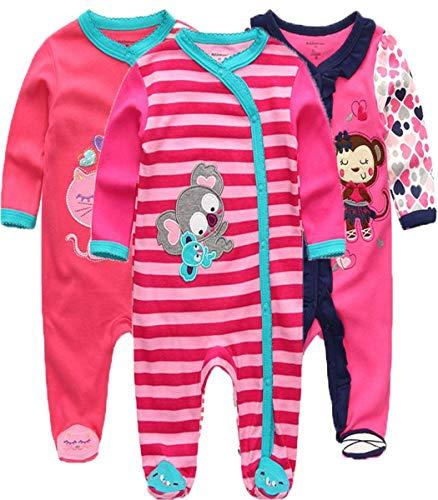Kiddiezoom Pelele para bebé y niña, pack de 3 unidades Design5 6-9 Meses