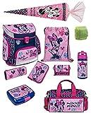 Familando Disney Minnie Maus Schulranzen-Set 10 TLG. Scooli Campus FIT mit Federmappe, Sporttasche,...