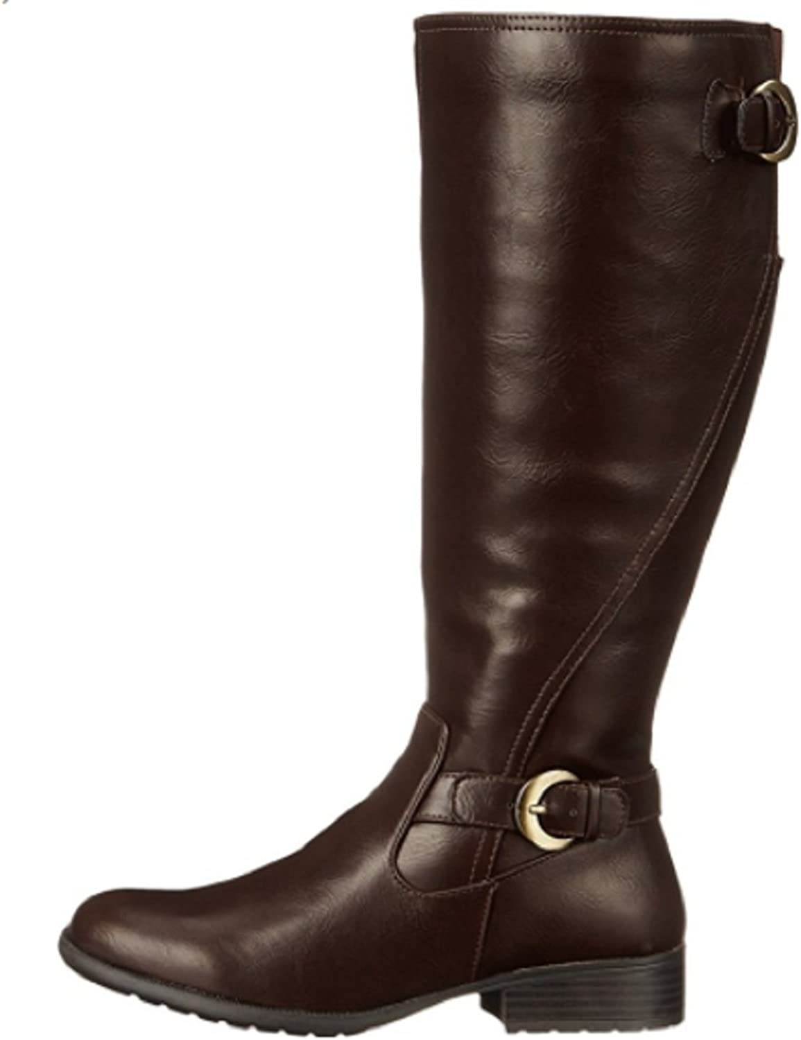 LifeStride Women's Xylans Wide Calf Leather Boots