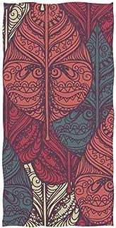 rodde Feuilles Ethniques Main Serviette Plat Serviettes Coton Visage Serviette 30x15 Pouces Gym Serviettes de Yoga pour Le...