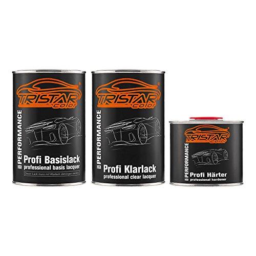TRISTARcolor Autolack Set Dose spritzfertig für Ford FLS NATO Olive Matt Basislack + 2K Klarlack 2,5L