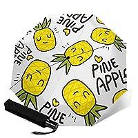 傘 レインウェア 折りたたみ傘 軽量 黄色の漫画の猫のデザイン 晴雨兼用 耐風構造 高耐久度 超撥水 梅雨対策 収納ポーチ付き