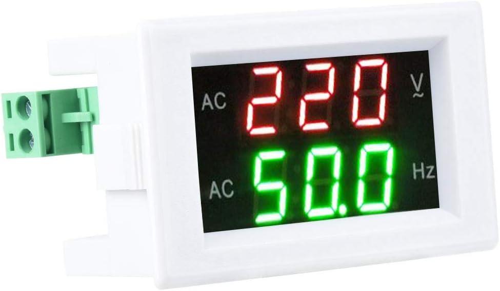Black Voltage Frequency Meter Generator Dual Display LED Digital AC Voltmeter Frequency Meter Testing Tool
